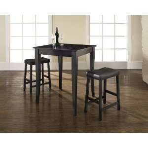 Piece Pub Dining Set with Cabriole Leg and Upholstered Saddle Stools