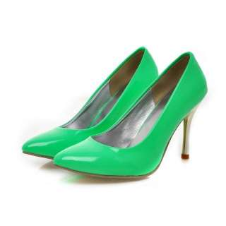 Ladies Sexy Shiny Patent Pointed Toe Stiletto Heels Pumps Shoes #016