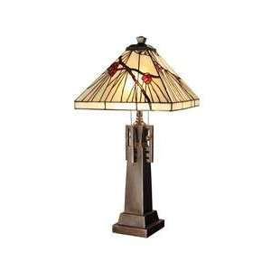 Dale Tiffany TT101353 Nettleton 2 Light Table Lamp in