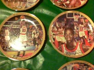 Michael Jordan Collection Chicago Bulls Upper Deck 12 plates set