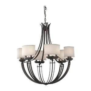 Candle 1 Tier Chandelier Lighting, 12 Light, 720 Watts, Colonial Iron