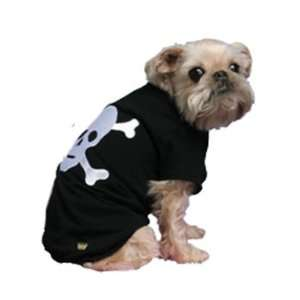 Black Kwigy bo Cave Canis Skull Dog T shirt Medium Pet