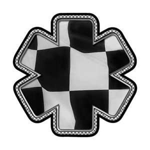 Checkered Flag Racing Star of Life Decal   16 h