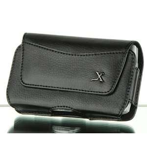 Premium Executive Black BH Horizontal Leather Carrying Pouch Case for