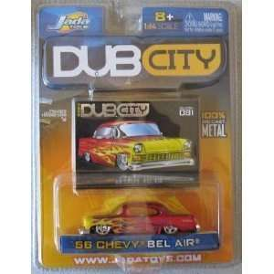 Jada Dub City Candy Red 1956 Chevy Bel Air 164 Scale Die