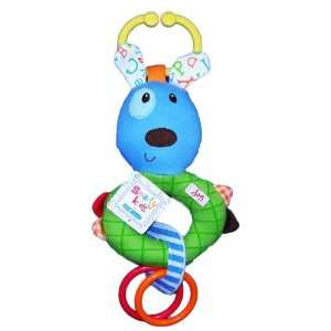 Smarty Kids on the Go Baby Rattle   Blue Dog Toys & Games