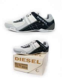 NEW DIESEL Brand Mens Korbin II High Rise White Blue Fashion Shoes