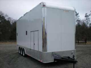 ENCLOSED CARGO STACKER TRAILER RACING CAR HAULER 13 STINGER LIFT 30