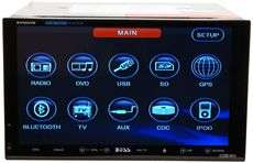 BOSS BV9562B 7 DOUBLE DIN CAR DVD RECEIVER DETACHABLE 791489114936