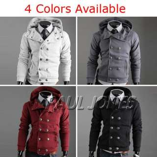 PJ Mens Winter Warm Slim Fit Coats Jackets Hoody + 4Colors & Sizes for