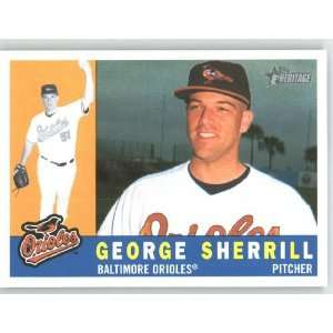 George Sherrill / Baltimore Orioles   2009 Topps Heritage Card # 395