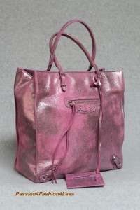Balenciaga Degrade Leather Milkyway Papier Metallic Pink Tote Bag New