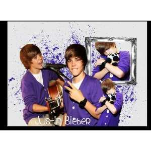 Unique JUSTIN BIEBER Laptop Skin Decal 1   Leather Look