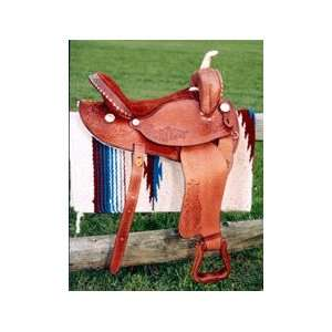 Blue Ridge Tooled Pro Barrel Racing Saddle Sports
