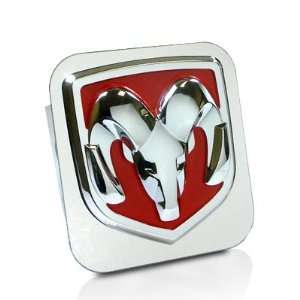 Dodge RAM Red Logo Tow Hitch Cover Automotive
