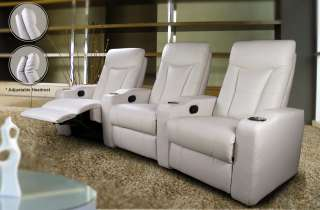 Home Theater Seats New 3 Colors Leather 6 Chairs Reclin