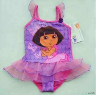 Girls Dora The Explorer 2 8Y Swimsuit Swimwear Costume