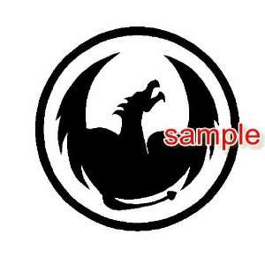 DRAGON CIRCLE WHITE VINYL DECAL STICKER