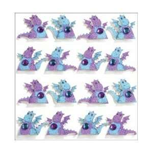 Mini Repeats Stickers Dragons; 3 Items/Order Arts, Crafts & Sewing