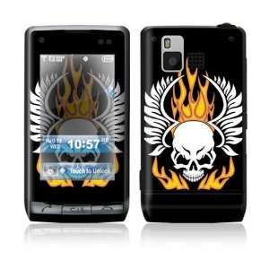 LG Dare VX9700 Skin Sticker Decal Cover   Flame Skull
