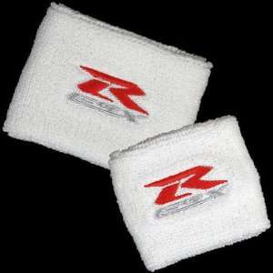 Suzuki GSXR White Brake/Clutch Reservoir Sock Cover Set Fits GSXR, GSX