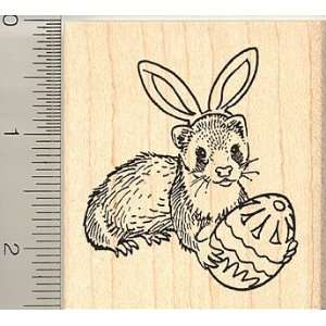 Egg and Bunny Ears Rubber Stamp   Wood Mounted Arts, Crafts & Sewing