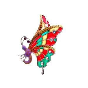 Wing Butterfly Czech Crystal Rhinestone Costume Brooch Pin Jewelry