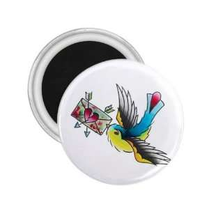 NEW Tattoo Sparrow Letter Fridge Souvenir Magnet 2.25