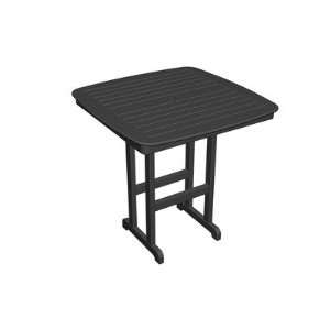 NCBT44 Nautical Square Bar Table Finish Green Patio, Lawn & Garden