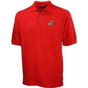 Louisville Cardinals Red Pique Polo