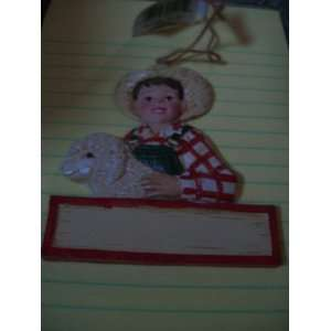 Kurt Adlers 4h Christmas Ornament Girl W/lamb, Boy W/pig, Boy w