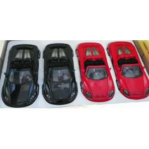 24 Scale Diecast Big Time Muscle Porsche Carrera Gt BOX of 4 Cars