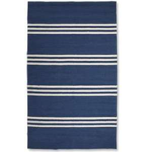 Orvis Blue Striped Easy care Indoor/Outdoor Rug