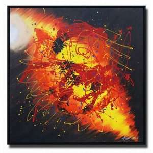 Fire Tornado Hand Painted Canvas Art Oil Painting