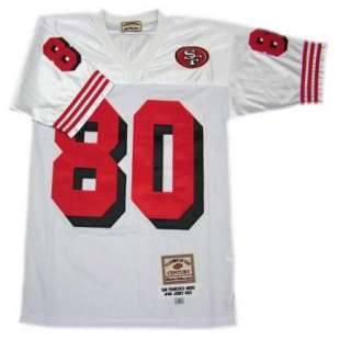 Jerry Rice #80 San Francisco 49ers Throwback White Sewn Mens Size