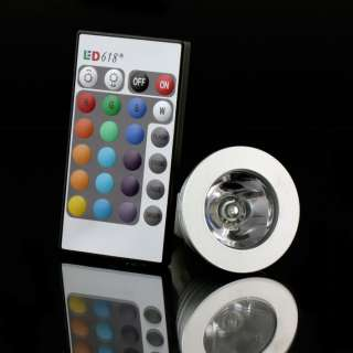 New 3W 16 Colors RGB LED Light Bulb GU10 Remote Control