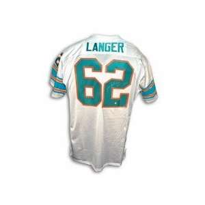 Jim Langer Autographed Custom Throwback Football Jersey Inscribed with
