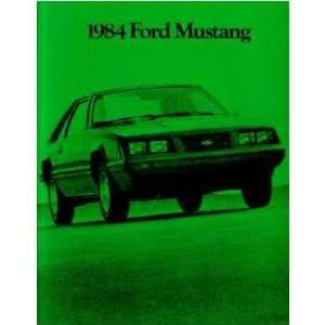 1984 FORD MUSTANG Sales Brochure Literature Book Piece