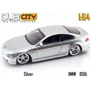 Jada Dub City Kustoms Silver BMW 650i 164 Scale Die Cast