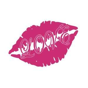 LOVE Lips Kiss Kissing Cute Vinyl Decal Sticker CUSTOM