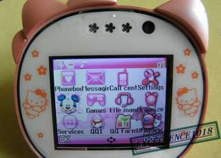 F198 UNLOCKED QUAD BAND HELLO KITTY cell phone MOBILE PHONE  CAMERA