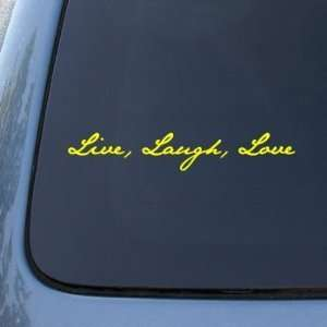 LIVE LAUGH LOVE   Vinyl Car Decal Sticker #1535  Vinyl