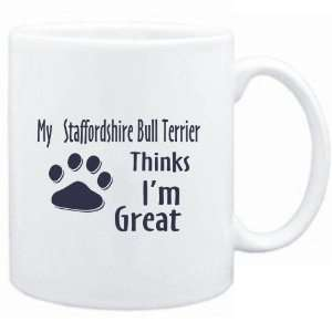 Staffordshire Bull Terrier THINKS I AM GREAT  Dogs