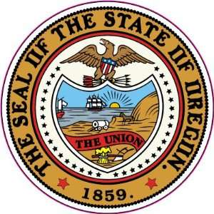 The Great Seal of the State of Oregon United States Car Bumper Sticker