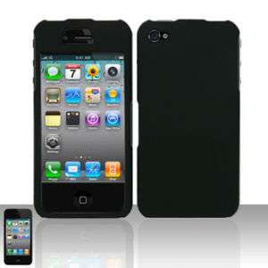 Solid Black Hard Case Cover For Apple iPhone 4 4G New
