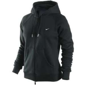 Nike Womens Black Brushed Fleece Full Zip Hooded