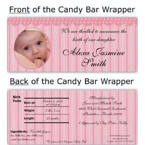 Pink Gingham Candy Wrapper Baby
