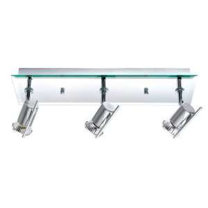 Chrome Tamara 3 Light Semi Flush Ceiling Fixture from the Tamara