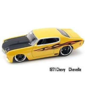 Jada Dub City Big Time Muscle Yellow 1971 Chevy Chevelle 1