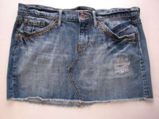 Awesome LUCKY BRAND Light Wash Denim Jean Mini Skirt Womens Juniors Sz